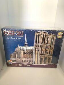 Notre-Dame-de-Paris-PUZZ-3D-952-Piece-Puzzle-Wrebbit-Sealed-Damaged-Box