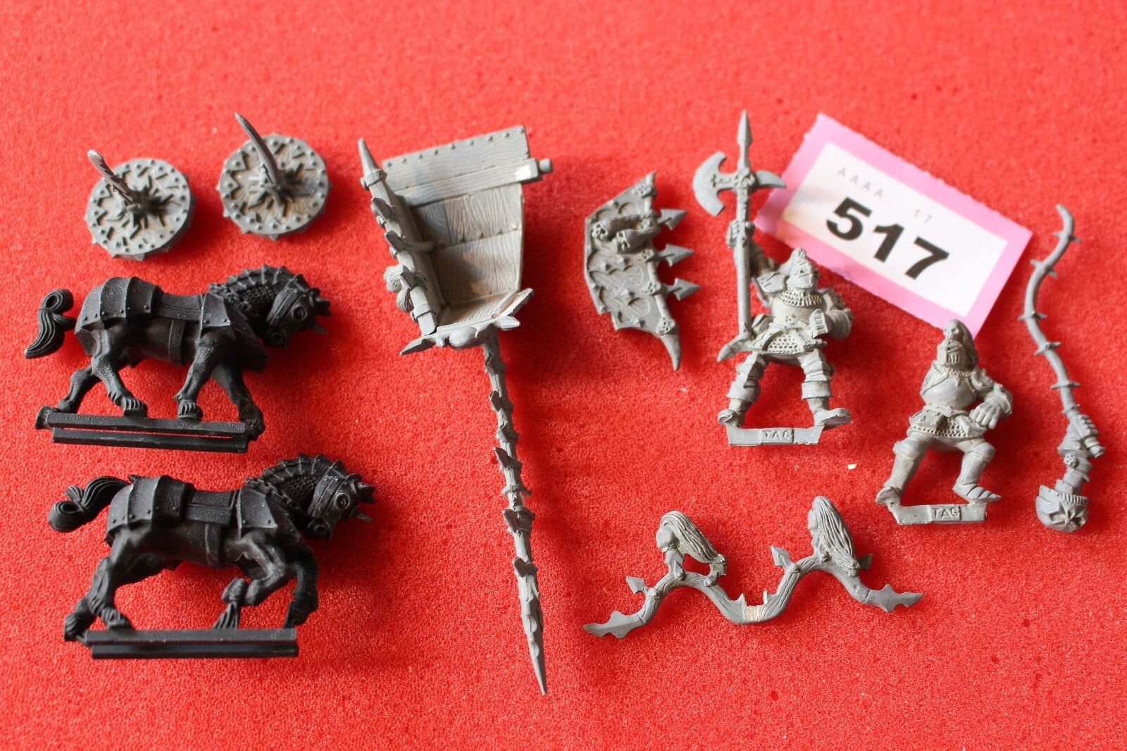 Games Workshop Warhammer Chaos Warriors Chariot Fantasy Metal Parts GW OOP V