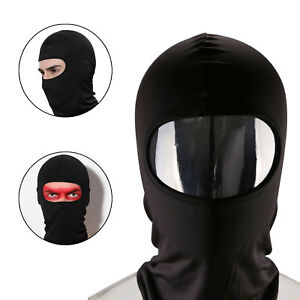 BLACK-BALACLAVA-BIKE-MOTORCYCLE-MOTORBIKE-HELMET-FACE-MASK-NECK-WARMER-RIB