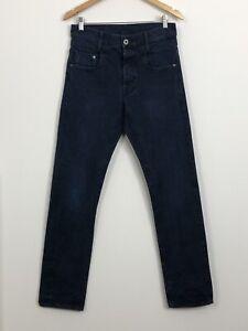 G-STAR-RAW-Mens-Dark-Blue-New-Radar-Slim-100-Cotton-Denim-Jeans-Size-W30-L34
