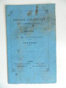Del Potere Concedente Di L'Nazionale Risposta Laboulaye Bertauld 1871