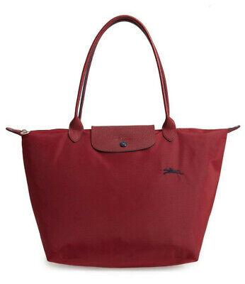 Longchamp Le Pliage Club Large Nylon Tote Shoulder Bag ~NWT~ GARNET RED    eBay