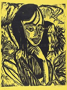 KIRCHNER-GERMAN-GIRLS-FEHMARN-MADCHEN-ART-PAINTING-POSTER-BB5280A