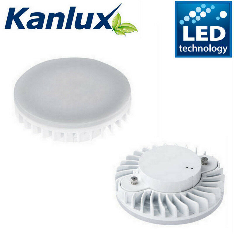 7W GX53 240v Circular CFL to LED Light bulb in Warm or Cool White Energy Saving