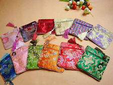 Handmade 10pcs Brand New Silk Jewelry & Coin Pouches Wallets Purses  Bags
