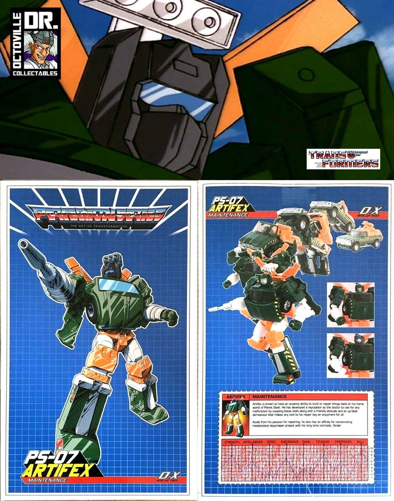 Transformers Masterpiece MMC Ocular Max PS-07 Artifex   MP Hoist Brand New