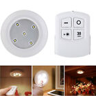 Touch Push LED Light Lamp Battery Operated + Remote Control for Cabinets Closets