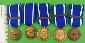 Dealer-Lot-of-5-NATO-FORMER-YUGOSLAVIA-Medals-5-full-size-Medals-as-pictured