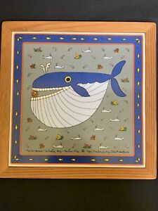 Taylor-amp-NG-Whopper-The-Whale-Large-Trivet-Tile-Wall-Decor-Made-in-Japan
