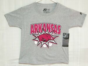 Arkansas-Razorback-Gray-New-w-tag-T-Shirt-YOUTH-Xtra-SMALL