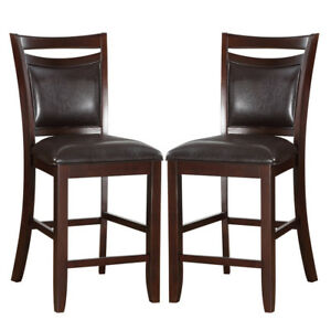 Exceptionnel Image Is Loading Set Of 2 Elegant Counter Height High Chairs