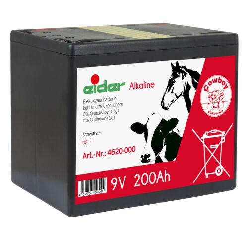 Alkaline Weidezaunbatterie 9V Weidezaungerät Weidezaun Batterie B-Ware