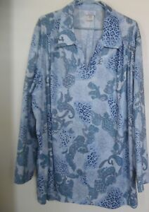 Only-Necessities-Blue-Paisley-Print-Lon-Sleeve-Tunic-Top-Plus-Size-3X