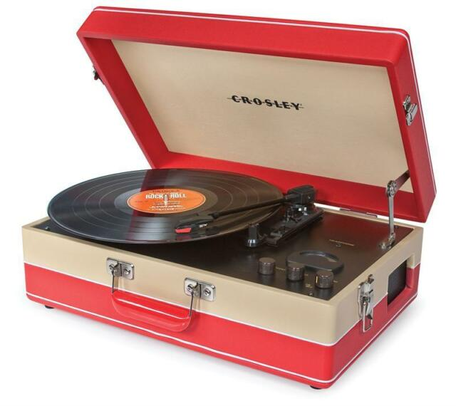 Brand new portable Crosley ECHO  turntable - 3 speed record player with radio