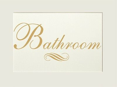 Bathroom Door Art  Vinyl Door/Wall Sticker Decal Interior Design Decoration