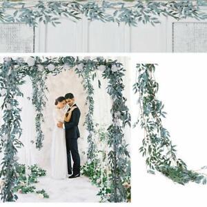 Kuenstliche-Gruen-Girlande-Weide-Blaetter-Rebe-Hochzeit-Hintergrund-Dekor-Chic-Rebe