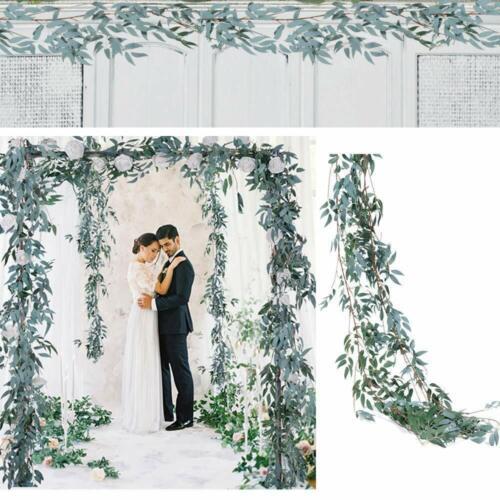 Artificial Rattan Willow Vine Garland Silk Greenery Leaves Home Wedding Decor