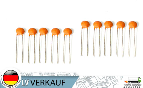 Arduino Raspberry Pi prototypage 10 Pièces Céramique Kerko Condensateur 50 V 1nf F