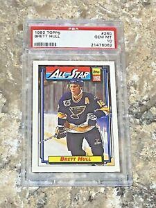 1992 Topps All Star Brett Hull #260 PSA 10 GEM MINT St Louis Blues HOF