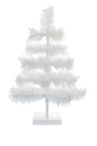 18'' White Christmas Tree White Tinsel Tabletop Wedding Centerpiece Holiday