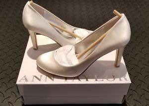 En Satin De 7m Chaussures Mariée Blanc Ann Taylor PkX8nw0O
