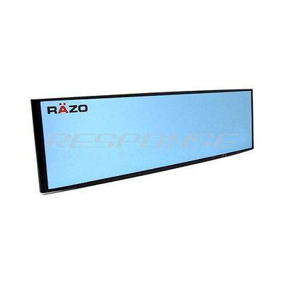 "Razo RG47 Clip On Wide Rear View Mirror 10.5"" Convex Blue Tint Universal JDM"
