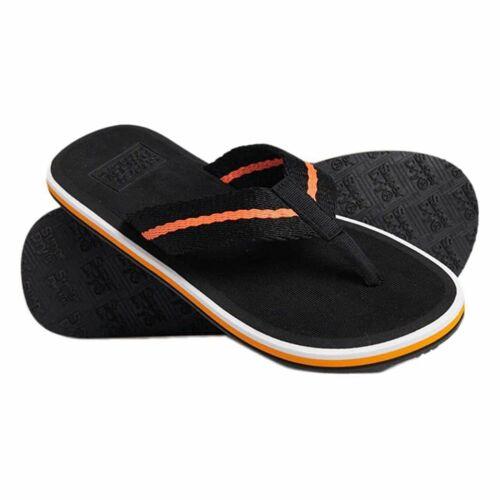Superdry Tri Colour Flip Flops Black 02A