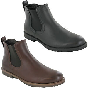 mens groundwork dealer boots chelsea pull on ankle soft