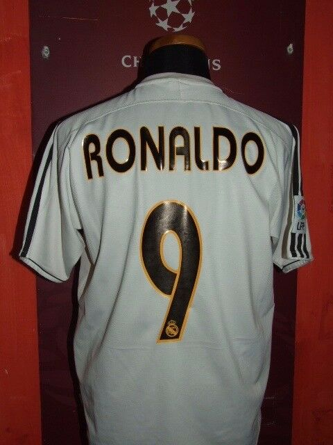 RONALDO REAL MADRID 2003-04 MAGLIA SHIRT CALCIO FOOTBALL MAILLOT JERSEY SOCCER M