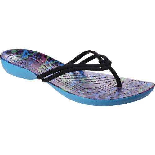 ISABELLA GRAPHIC FLIP blue leopard CROCS Shoes