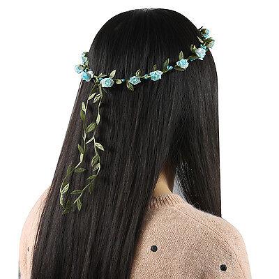 Boho Lady Girl Floral Flower Festival Wedding Garland Hair Band HeadBand