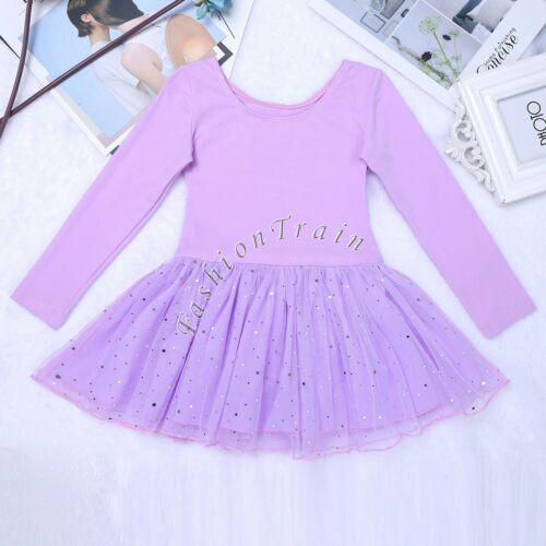 Child Girls Ballet Tutu Skirt Skating Dress Dance Costume Kids Leotard Dancewear