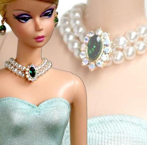 "Handmade Doll jewelry necklace earrings fits 11.5/"" dolls D150"