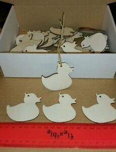 Details about Wooden Gift Tags Ducks Bulk Buy x 45
