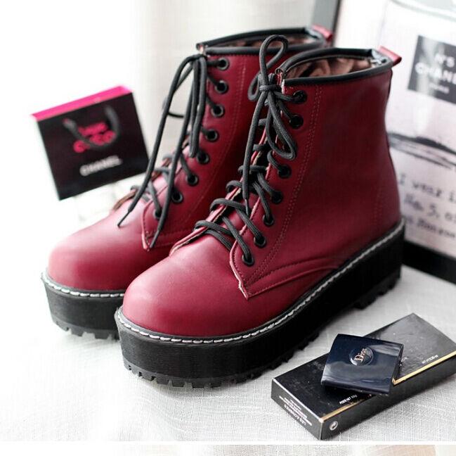 botas botas cómodo botas militares mujer talón 3.5 cm rojo número 35