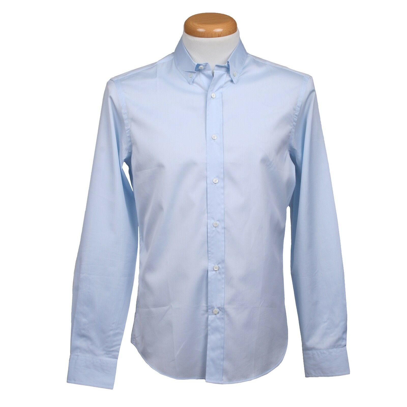 Brunello Cucinelli 100% Cotton Long Sleeve bluee Dress Shirt SIZE M NEW S60