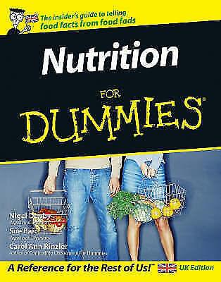 """""""AS NEW"""" Sue Baic, Carol Ann Rinzler, Nigel Denby, Nutrition For Dummies Book"""