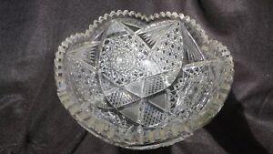 Antique-American-Brilliant-Period-Cut-Glass-9-1-4-034-Bowl
