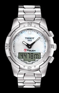 Image is loading T0472204411600-Tissot-T-Touch-II-Shiny-Titanium-Ladies- 21f211a48