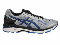 Mens Asics Gel-kayano 23 Running Shoes Trainers Silver / Imperial 2e Wide
