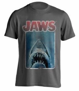 Jaws-Distressed-Poster-Official-Mens-T-Shirt