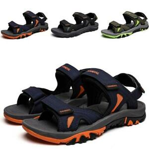 Men-Beach-Sandals-Shoes-Slingback-Open-Toe-Sport-Flats-Straps-Leisure-Summer-New