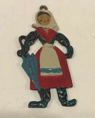 Vintage KUHN ZINN German Pewter Christmas Ornament -Girl ...