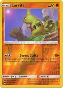 POKEMON LARVITAR 115/214 COMMON REVERSE HOLOFOIL NM CARD ...