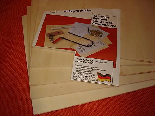 15 x Pappel Bastel Sperrholz 312 x 212 x 4mm größer Din A4 Laubsägearbeiten NEU