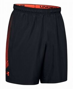 Under-Armour-Mens-Shorts-Black-Size-Small-S-Athletic-Heat-Gear-Logo-30-283