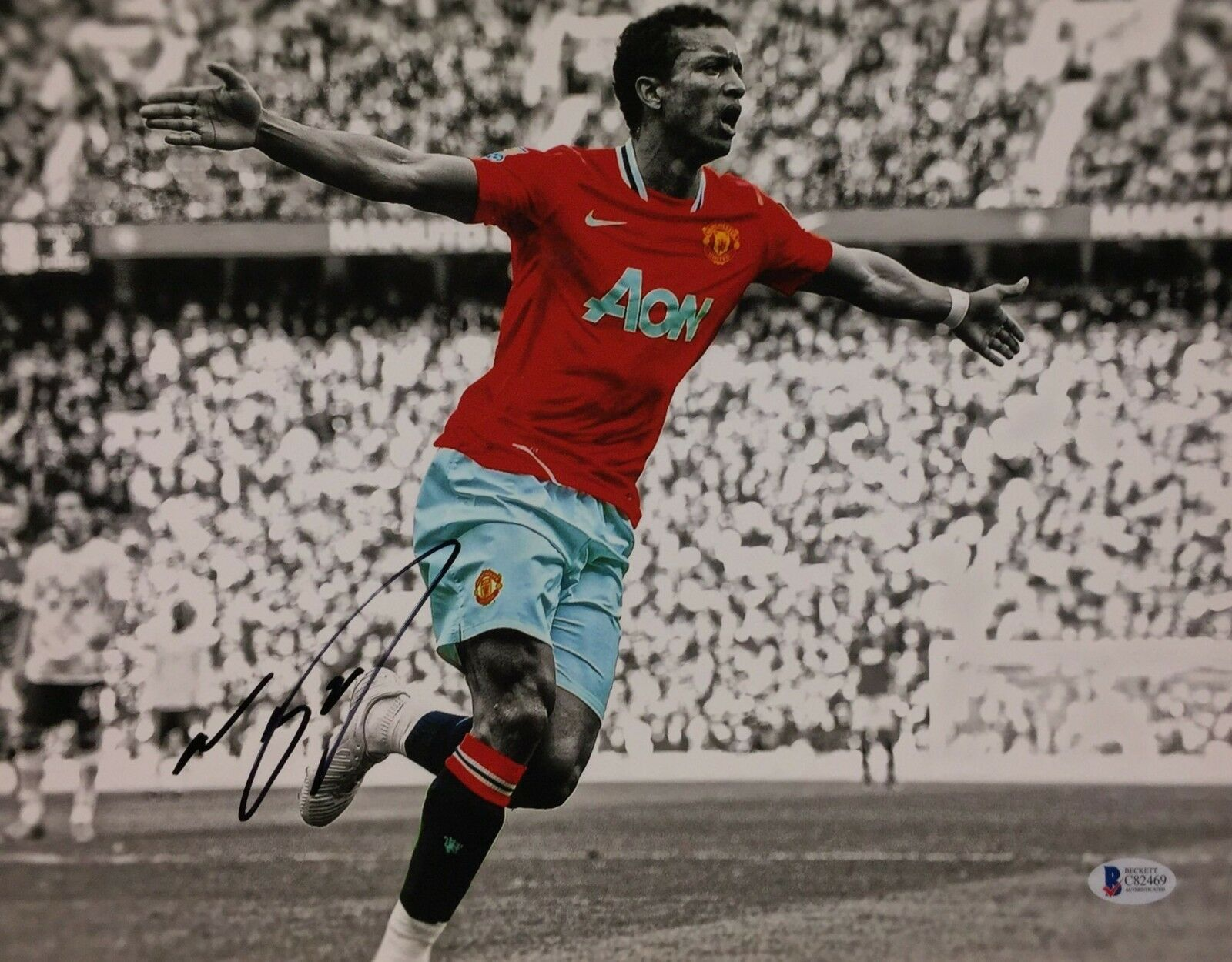Nani Signed 11x14 Soccer Photo BAS Beckett C82469