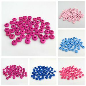 NEW-IN-100PCS-10MM-WOODEN-SINGLE-COLOUR-SPACER-BEADS-FOR-JEWELLERY-MAKING