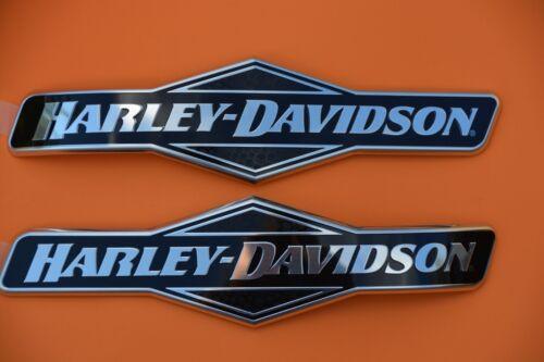GENUINE HARLEY DAVIDSON FUEL GAS TANK EMBLEMS EMBLEM BADGES RIGHT /& LEFT