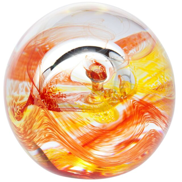 Caithness Glass U16041 Mooncrystal Fire Paperweight